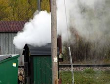 Smoky Outdoor Boiler