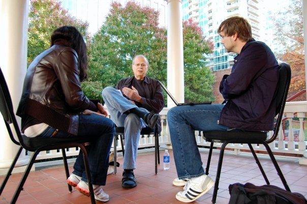 Nate Kohn mentoring Screenplay Retreat Winners