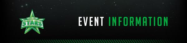 Melbourne Stars Event Information