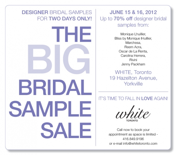 White Bridal Sample Sale