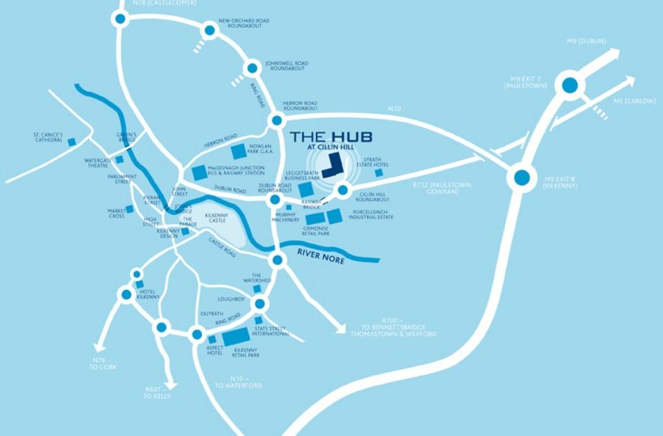 The Hub @ Cillín Hill - Map