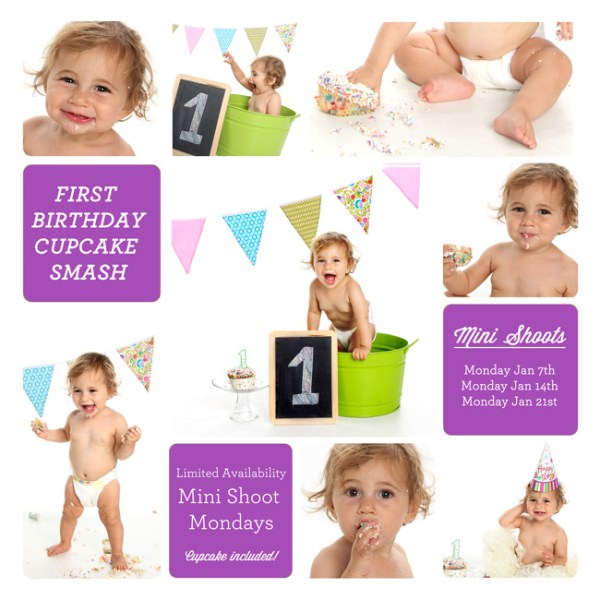 First Birthday Cupcake Smash Mini Sessions