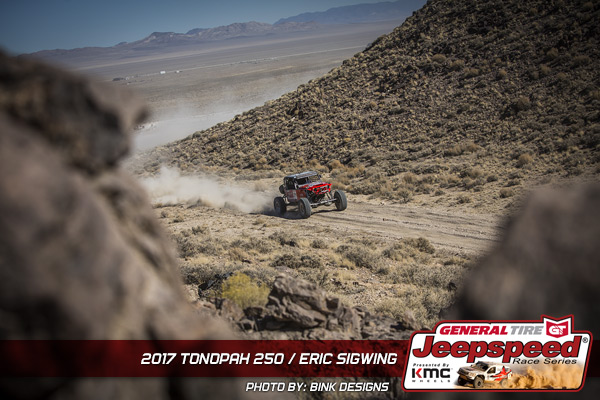 Eric Sigwing, Jeepspeed, Tonopah 250, General Tire, KMC Wheels, Bink Designs