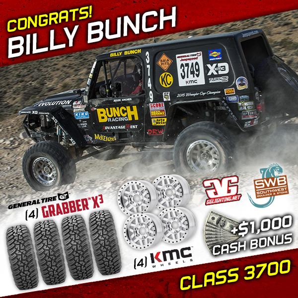 Billy Bunch, Jeepspeed, General Tire, KMC Wheels, The Mint 400, Bink Designs, King Shocks, Las Vegas