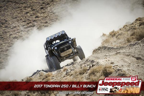 Jeepspeed, Billy Bunch, General Tire GrabberX3, KMC Wheels, Bink Designs, Best In The Desert, Tonopah 250