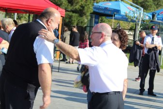 The Chief of the Staff at a Salvation Army fun day in Tbilisi, Georgia