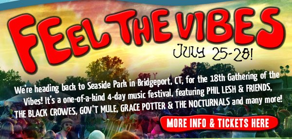 Feel the Vibes July 25-28! - We're heading back to Seaside Park in Bridgeport, CT, for the 18th Gathering of the Vibes!