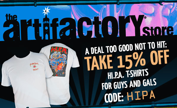 Artifactory Special - A deal too good not to hit: Take 15% off hI.P.A. t-shirts for guys and gals.