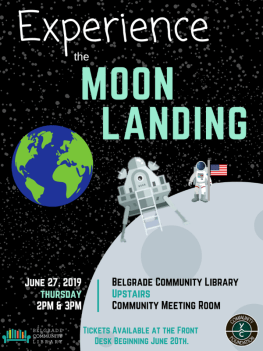 Experience the moon landing flyer