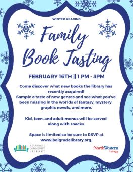 Family Book Tasting Event - Feb 16