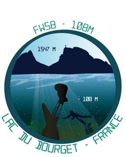 Plongée sur l'épave du FW58 au Lac du Bourget