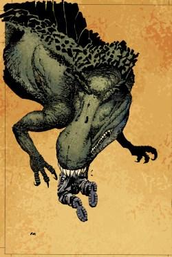 [Jurassic Park #1 Frank Miller cover]