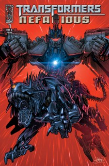 [Transformers: Nefarious #1 cover]