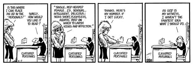 [Bloom County, February 7,  1983]