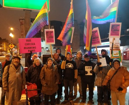 Chelsea Manning action