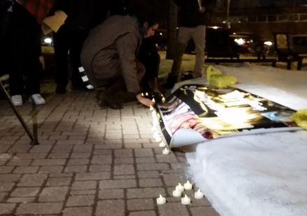 Tamir Rice candlelight vigil