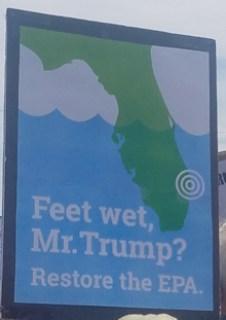 Feet wet, Mr. Trump?