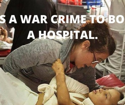It's a war crime to bomb a hospital