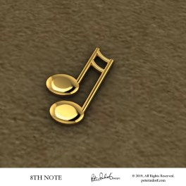 32nd Note Pin in gold.