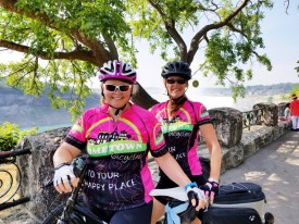 Team Hometown Bicycles' Margaret Bigham and Sue Charleville Cycle the Erie Canal by Niagra Falls