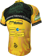 Hometown Bicycles Team Jersey with Sponsors