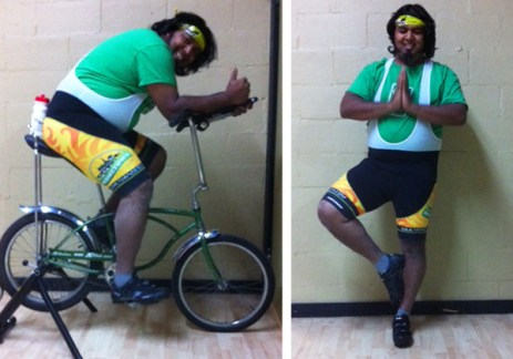 Spin and yoga Shaun Bhajan of Hometown Bicycles