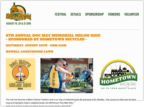 Howell Melon Festival's Doc May Memorial Melon Ride website