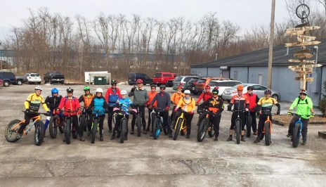 Hometown Bicycles Fat Bike Friendly Shop Ride heading to Island Lake Badlands