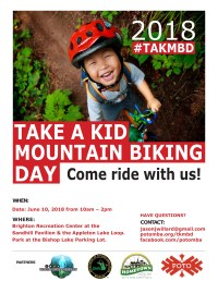 Take a Kid Mountain Biking Day poster