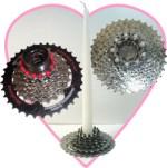 Bicycle cassette candle holders by Deborah Marlowe Kashdan