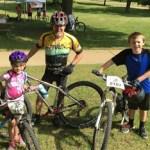 Team Hometown Bicycles doing Take Your Kids Mountain Biking Day