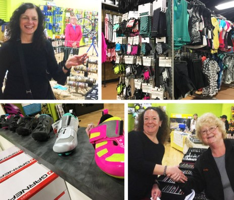 A stunning selection of Louis Garneau shoes, cycle wear, and gloves for women at Hometown Bicycles Ladies Night Out: Spring Edition