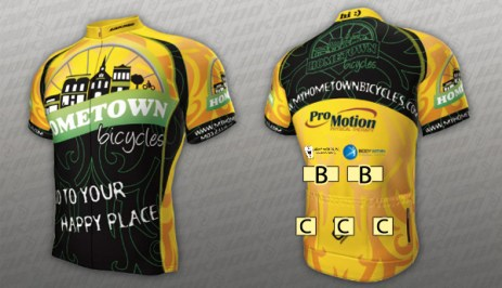 Team Hometown Bicycles Jersey Sponsorships