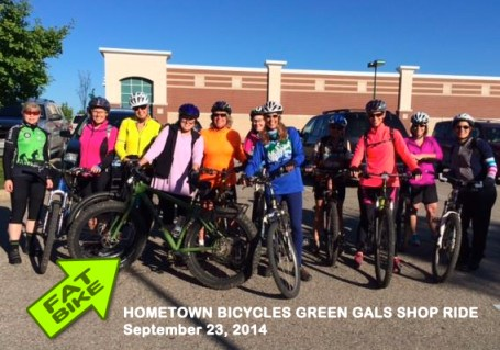 Fat Bike at Hometown Bicycles Green Gals Shop Ride September 23, 2014