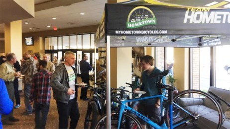 Hometown Bicycles at The Brighton Nazarene Church (The Naz) Sportsman's Banquet, put on by their Men's Ministry