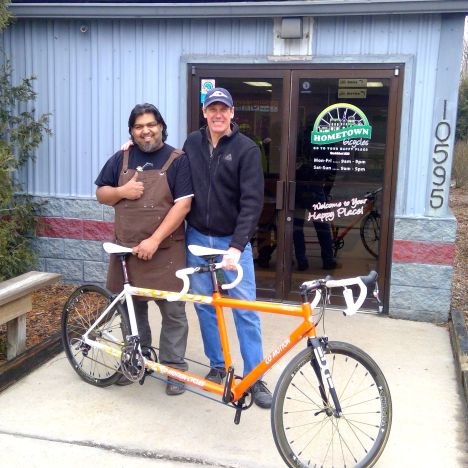 Hometown Bicycles' Shaun Bhajan forging and alliance with Joel Hakken of Midwest Bike and Tandem