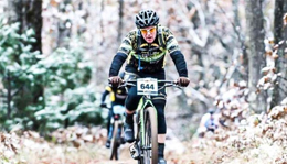 Team Hometown Bicycles' in the winter woods
