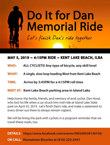 Do It for Dan Memorial Ride flier
