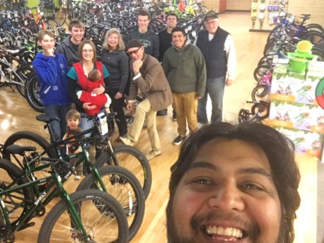 Hometown Bicycles crew group photo