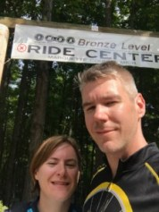 Team Hometown Bicycles Mike and Nancy Kessler on the Marquette Trail in Michigan