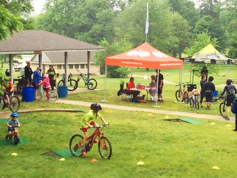PotoMBA Take a Kid Mountain Biking event at Brighton Rec with Hometown Bicycles