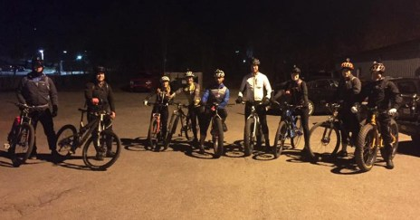 Hometown Bicycles Night Lights Shop Ride
