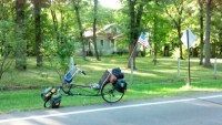 Dick Janson's recumbent bike