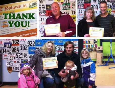 I Believe in Hometown Bicycles Gift Certificate participants