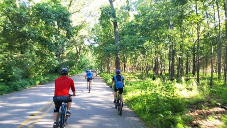 Hometown Bicycles shop ride at Island Lake Recreation Area