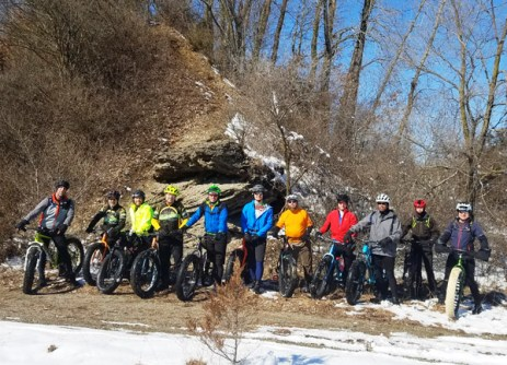 Hometown Bicycles Fat Bike Friendly Shop Ride in the Island Lake Badlands