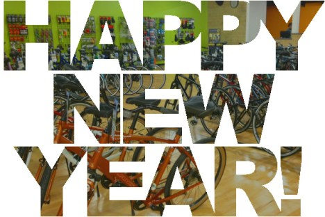 Happy New Year from Hometown Bicycles bicycle adventure center!