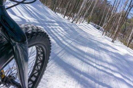 Fat bike on snow
