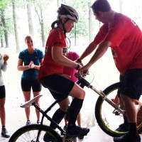 Hometown Bicycles Rides Coordinator Jean Steinberg at the Got Womens Mountain Bike Clinic