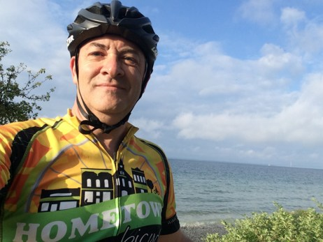 Team Hometown Bicycles' Steve Wortley on Mackinac Island